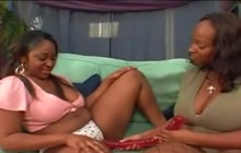 Huge girls playing with dildo