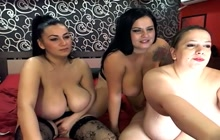 Big busty babes masturbating on webcam show