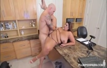 Fat ass Latina Sofia Rose fucked in the office