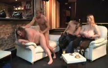BBW fisted and fucked in front of her friends