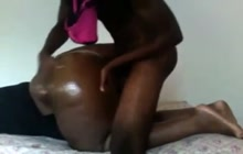 Skinny black guy fucking his big GF from behind