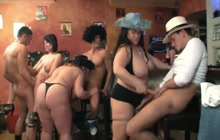 Sex party with a group of fat ladies