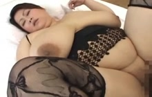 Asian BBW with giant tits fucked