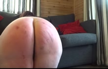 BBW getting roughly spanked