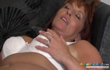 Beau Diamonds toys with her tits