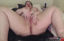 Brunette squirts milk from her boobs and masturbates