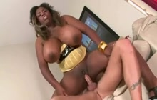 Black fatty taking a white cock