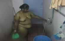 Indian bbw taking a shower