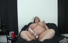 Naughty BBW and her new toy