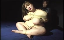 Fat whore gets tied with ropes