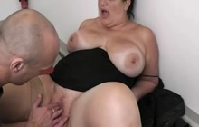Fatty fucked in the office