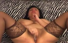 BBW solo webcam masturbation