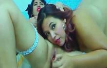 Amateur Latina lesbians fucking on cam