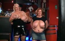 Fat ladies flashing their tits on webcam