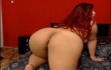 BBW amateur teasing naked on webcam