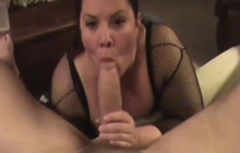 BBW blows and fucks fat cock