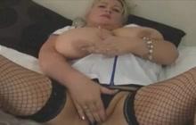 Monster boobed nurse masturbating
