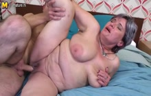 Mature fatty fucked hard