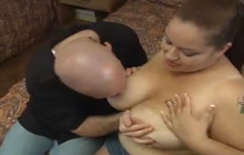 Big tits gets fondled and sucked